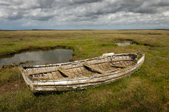 old rotting rowing boat Stock Image