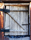 Old rotting wooden door Stock Photography