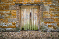 Old rotting wooden double doors Royalty Free Stock Images
