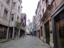 Old Rouen Street, France Stock Images