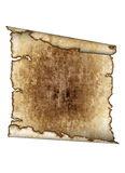 Old rough antique parchment paper scroll, texture Royalty Free Stock Photography