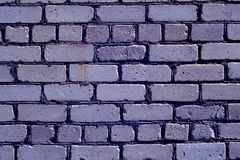 Old rough blue color brick wall pattern. Royalty Free Stock Image