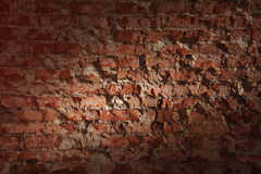 Old rough brick wall Royalty Free Stock Images
