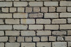 Old rough gray color brick wall pattern. Royalty Free Stock Photography