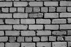 Old rough gray color brick wall pattern. Stock Photo