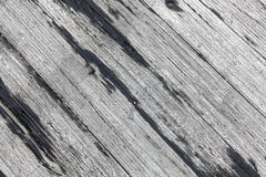 Old rough gray wooden planks diagonally placed Stock Photography