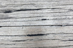 Old rough gray wooden planks full of cracks Royalty Free Stock Photo