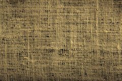 Old rough linen background. Close up Royalty Free Stock Photography