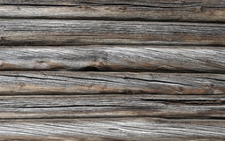 Old rough log wall background Royalty Free Stock Photo