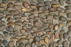 Pebble or gravel stone texture floor background. Old rough random pebble or gravel stone texture floor background.have some space for write wording royalty free stock image