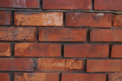 Old rough red brick texture Royalty Free Stock Photos