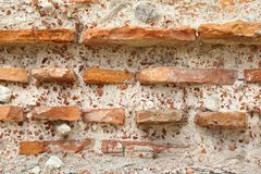 Old Rough Red and White Stone Wall Royalty Free Stock Photo