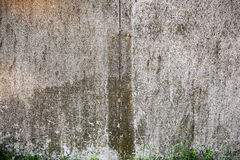 Old rough textured concrete wall. Royalty Free Stock Photo