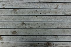 Background of an old rough wooden boards with rusty nails stock photography
