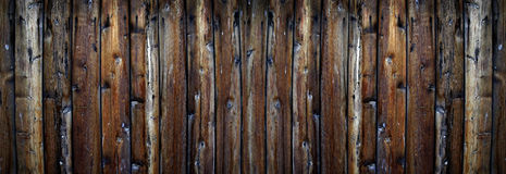Old Rough Wooden Plank Fence Texture Stock Image
