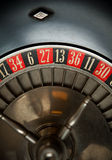 Old Roulette Wheel. Detail Macro stock image