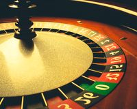 Old Roulette wheel. casino series. Stock Photo