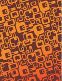 Old round. Retro old background or wallpaper in orange autumn color. wrap. vector. editable Royalty Free Stock Photo