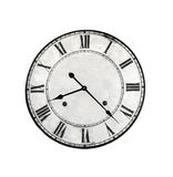 Old round clock face isolated. Stock Photo