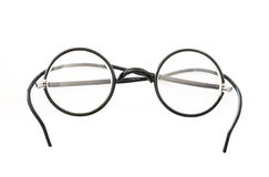 Old round eyeglasses. Royalty Free Stock Photo