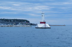Old Round Island Point Lighthouse in Mackinac Island Royalty Free Stock Photos