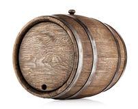 Old round oak barrel Stock Images