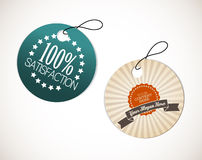 Old round retro vintage grunge tags Royalty Free Stock Photo