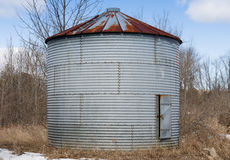 Old metal silo Stock Images