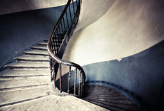 Old round spiral stairs Stock Images
