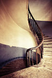 Old round spiral stairs Stock Photo