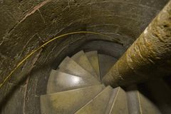 Old round stairway Royalty Free Stock Images