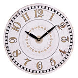 Old round wall clock Stock Photos