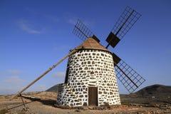 Old round windmill in Villaverde, Fuerteventura Royalty Free Stock Image