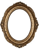 Old rounded frame. Old rounded wooden frame w /path royalty free stock images