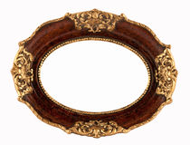 Old rounded frame. Old rounded wooden frame w /path Stock Image