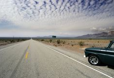 Old Route 66 desert horizon Royalty Free Stock Photography