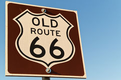 Old Route 66 Sign Royalty Free Stock Images