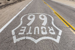 Old Route 66 Sign Upside Down View Stock Images