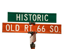 Old Route 66 Signs Royalty Free Stock Image