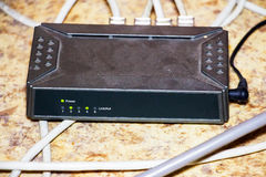 Old router network hub Stock Photos