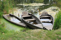 Old row boats Royalty Free Stock Photos