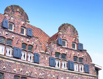 Old row houses in the Netherlands Royalty Free Stock Photos