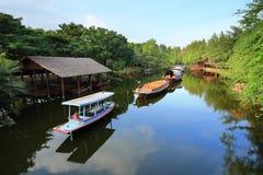 Old rowboat. In Ancient City, Bangkok, Thailand Stock Photos