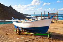 Old Rowboat in Garachico, Tenerife Royalty Free Stock Image