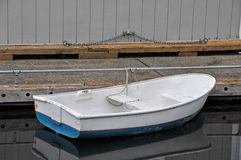 Old rowboat in harbor Royalty Free Stock Photography
