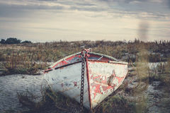Old rowboat Stock Images