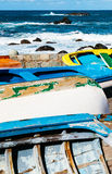 Old Rowboats in Taganana Coast Royalty Free Stock Photos