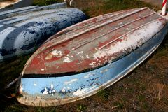 Old Rowing Boat. A Very Old Rowing Boat Royalty Free Stock Image