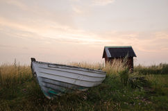 Old rowing boat Stock Photos