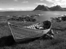 Old rowing boat at North Iceland